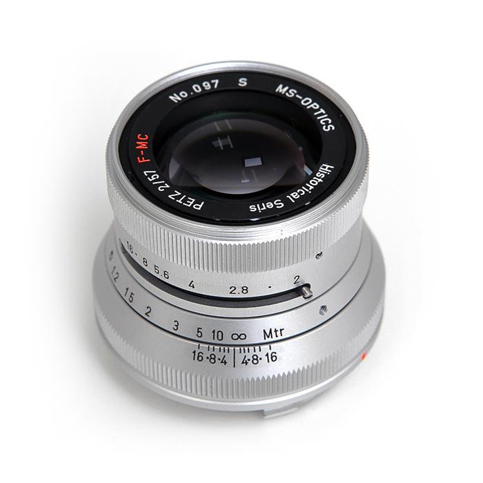 《新品》 MS-Optics (エムエスオプティックス) Petz M57mm F2 シルバー[ Lens | 交換レンズ ]【KK9N0D18P】【数量限定特価】