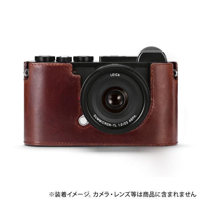 《新品アクセサリー》 Leica (ライカ) CL用レザープロテクター ブラウン【KK9N0D18P】