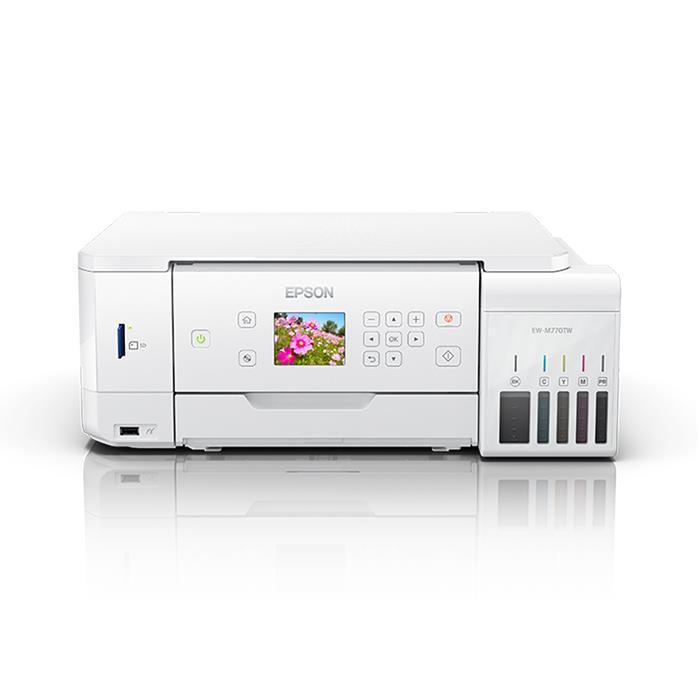 《新品アクセサリー》EPSON(エプソン) A4カラー複合プリンター EW-M770TW ホワイト【KK9N0D18P】