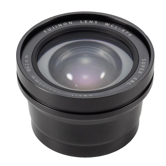 《新品》 FUJIFILM(フジフィルム) ワイドコンバージョンレンズ WCL-X70 B ブラック[ Lens | 交換レンズ ]〔メーカー取寄品〕【KK9N0D18P】