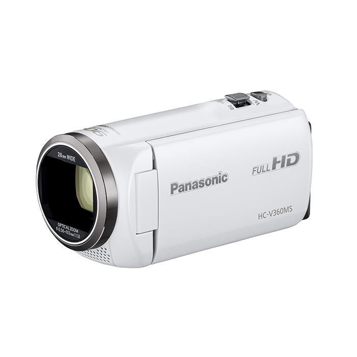 《新品》 Panasonic (パナソニック) デジタルハイビジョンビデオカメラ HC-V360MS-W ホワイト [ ビデオカメラ ] 【KK9N0D18P】