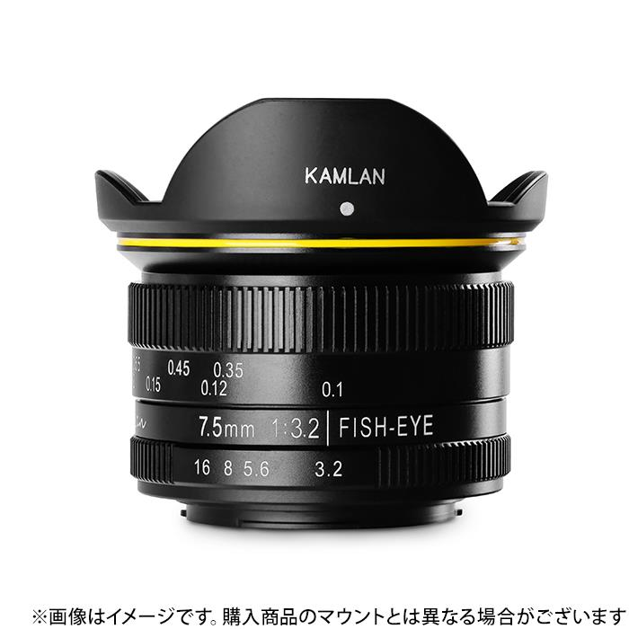 《新品》KAMLAN(カムラン) FS 7.5mm F3.2 (マイクロフォーサーズ用)[ Lens | 交換レンズ ]【KK9N0D18P】