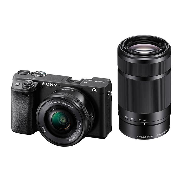 《新品》 SONY (ソニー) α6400 ダブルズームレンズキット ILCE-6400Y ブラック【¥15,000-キャッシュバック対象】[ ミラーレス一眼カメラ | デジタル一眼カメラ | デジタルカメラ ]【KK9N0D18P】
