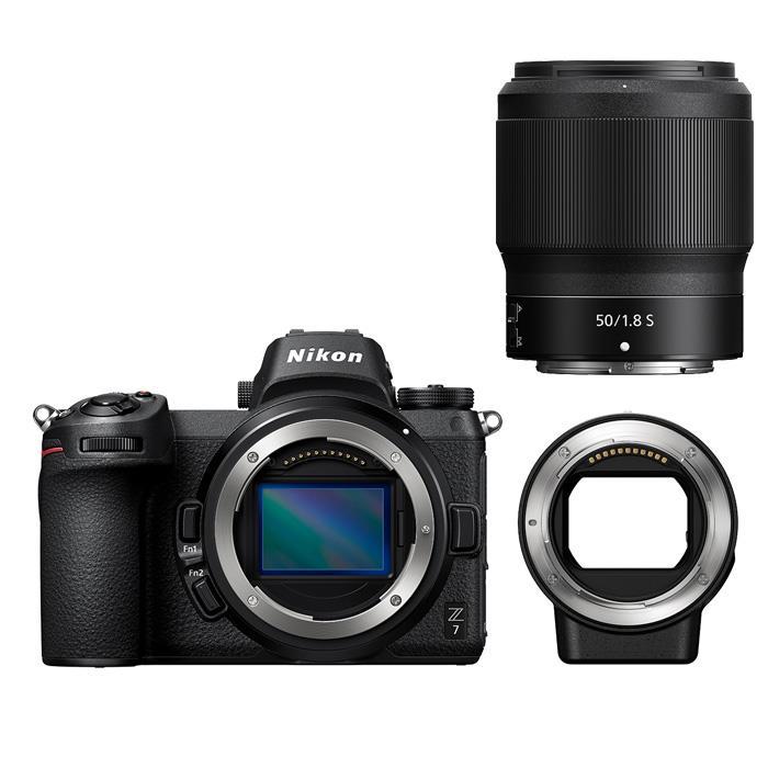 《新品》Nikon (ニコン) Z7 FTZマウントアダプターキット + NIKKOR Z 50mm F1.8 S セット[ ミラーレス一眼カメラ | デジタル一眼カメラ | デジタルカメラ ]【発売記念キャンペーン対象】【¥25,000-キャッシュバック対象】〔マップカメラオリジナルセット〕