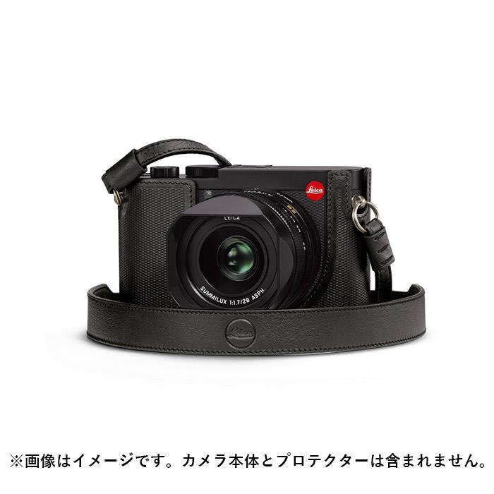 《新品アクセサリー》 Leica (ライカ)Q2用 レザーストラップ ブラック 発売予定日:2019年5月【KK9N0D18P】