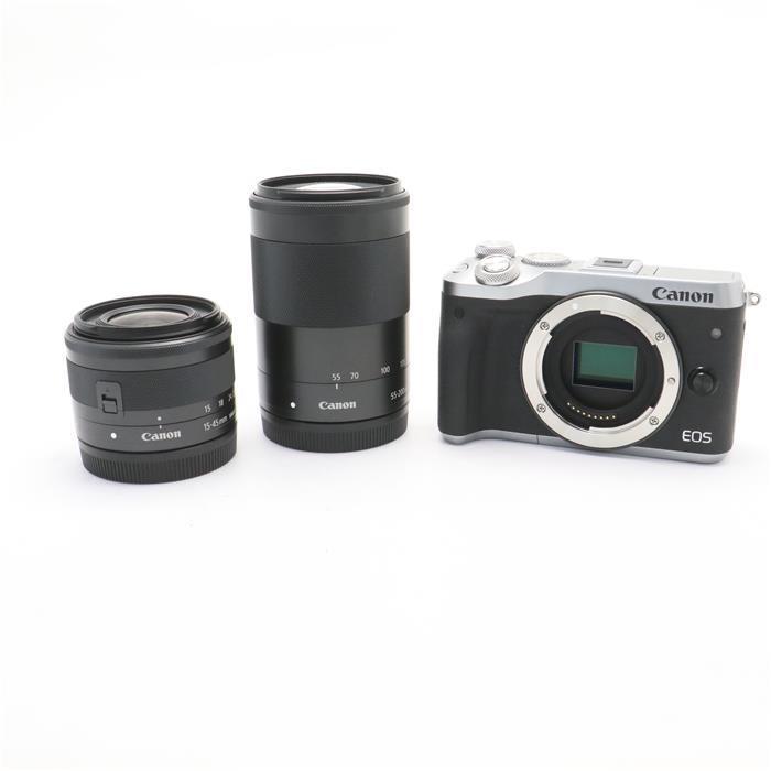 【あす楽】 【中古】 《良品》 Canon EOS M6 ダブルズームキット シルバー [ デジタルカメラ ]