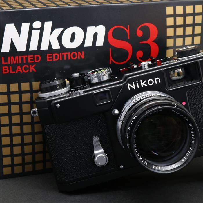 【あす楽】 【中古】 《美品》 Nikon S3 Limited Edition (50mm F1.4付)  ブラック 【限定2000台の復刻モデルが入荷しました!】