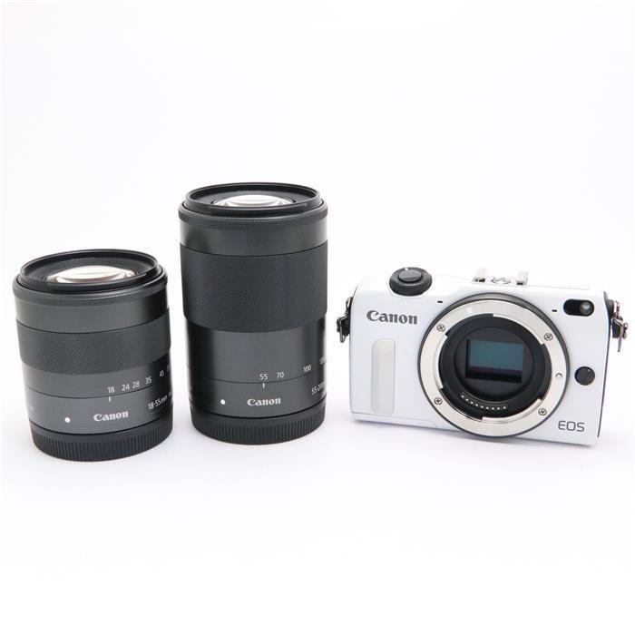 【あす楽】 【中古】 《美品》 Canon EOS M2 ダブルズームキット ホワイト [ デジタルカメラ ]