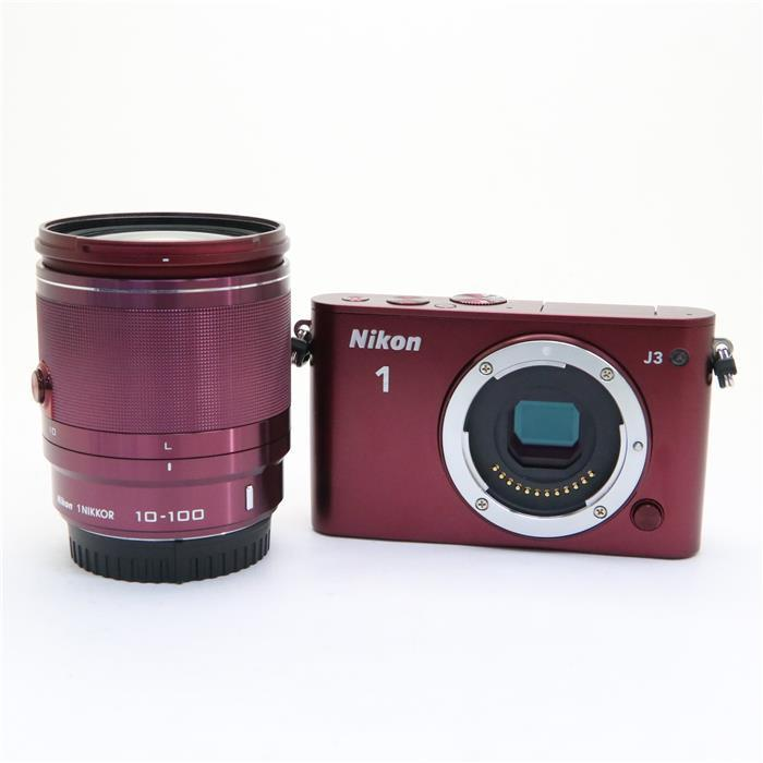 代引き手数料無料 あす楽 中古 《良品》 Nikon デジタルカメラ (人気激安) J3 小型10倍ズームキット 超人気 レッド 1