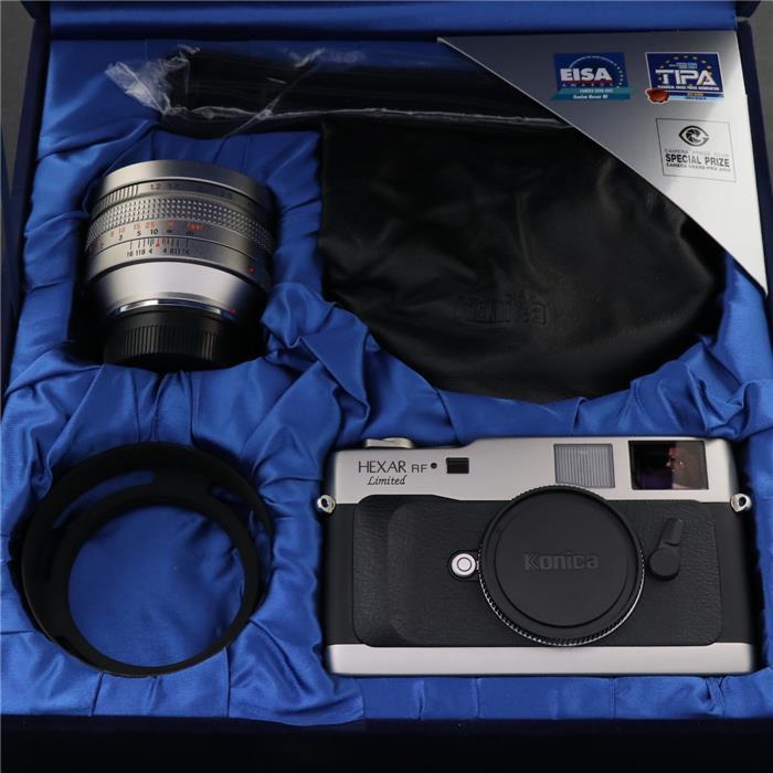 【あす楽】 【中古】 《美品》 Konica HEXAR RF Limited + M-HEXANON 50mm F1.2 セット