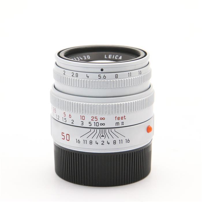 【あす楽】 【中古】 《良品》 Leica ズミクロン M50mm F2 レンズフード組込 シルバー [ Lens   交換レンズ ]