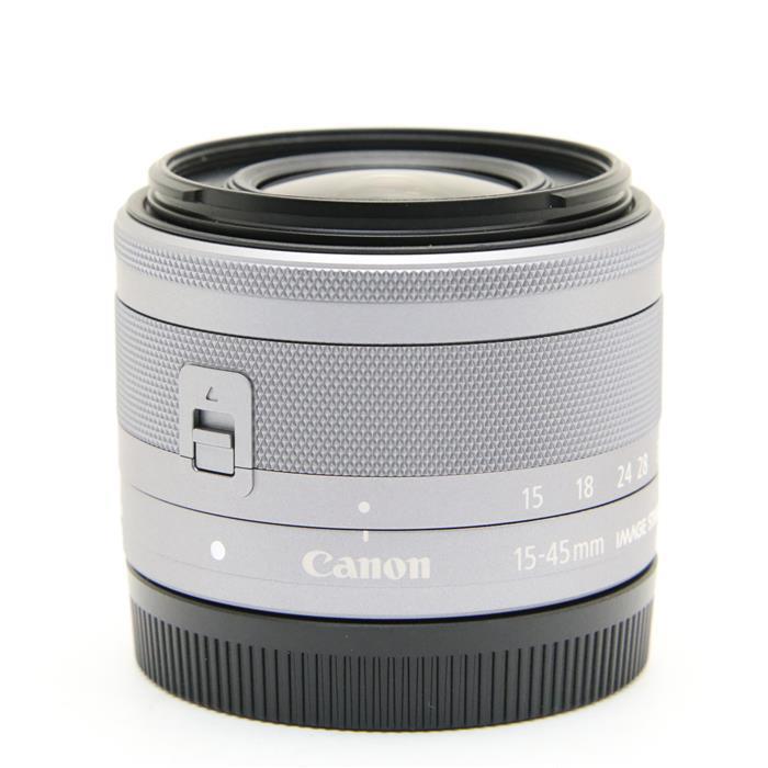 【あす楽】 【中古】 《美品》 Canon EF-M15-45mm F3.5-6.3 IS STM シルバー [ Lens   交換レンズ ]
