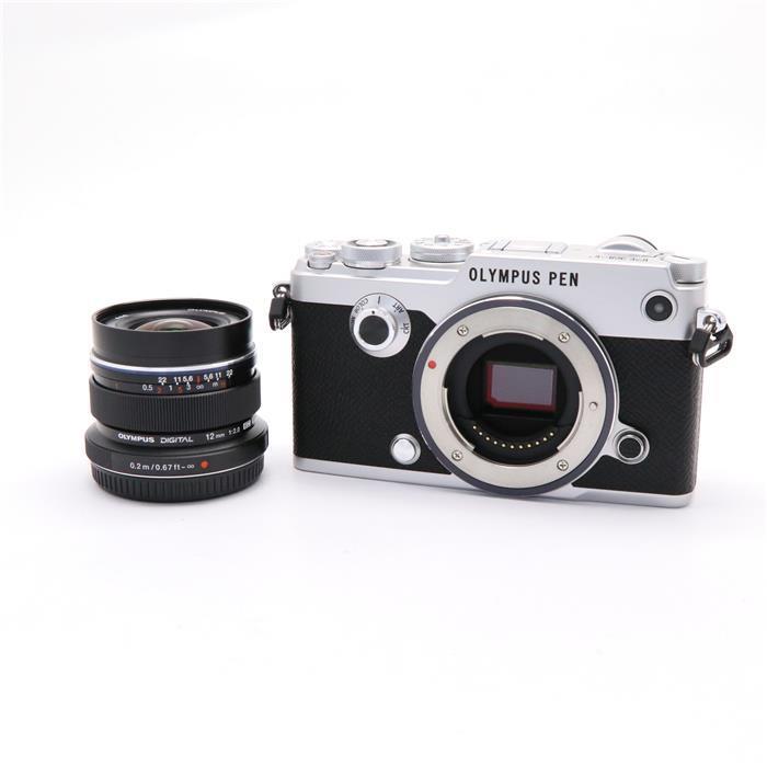 【あす楽】 【中古】 《美品》 OLYMPUS PEN-F 12mmF2.0レンズキット シルバー [ デジタルカメラ ]