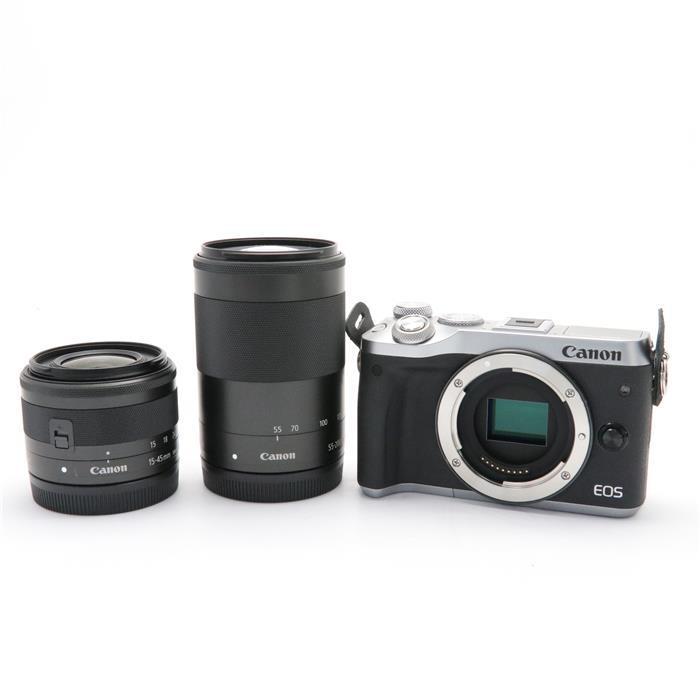 【あす楽】 【中古】 《美品》 Canon EOS M6 ダブルズームキット シルバー [ デジタルカメラ ]