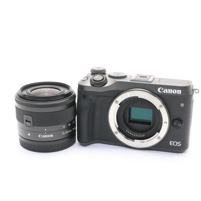 【あす楽】 【中古】 《美品》 Canon EOS M6 EF-M15-45 IS STM レンズキット ブラック [ デジタルカメラ ]