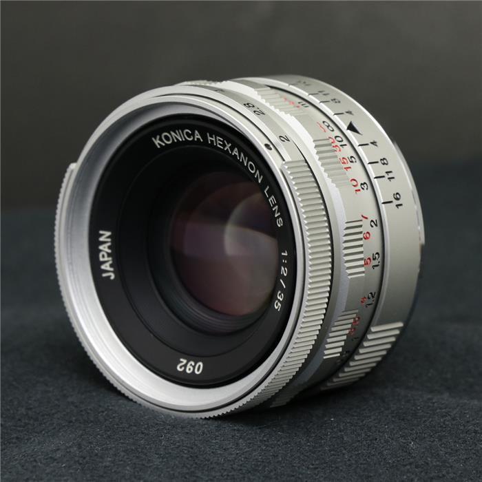 【あす楽】 【中古】 《美品》 Konica HEXANON (L) 35mm F2 シルバー [ Lens | 交換レンズ ]