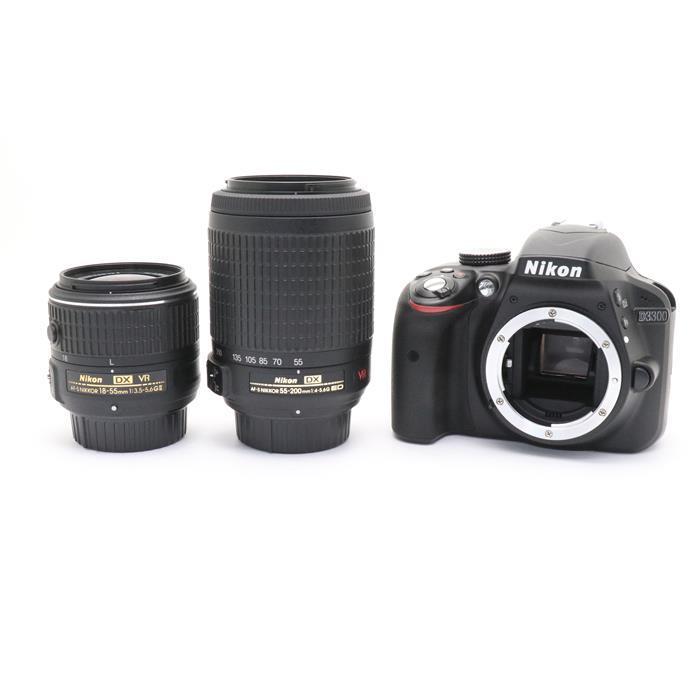 【あす楽】 【中古】 《良品》 Nikon D3300 ダブルズームキット ブラック [ デジタルカメラ ]