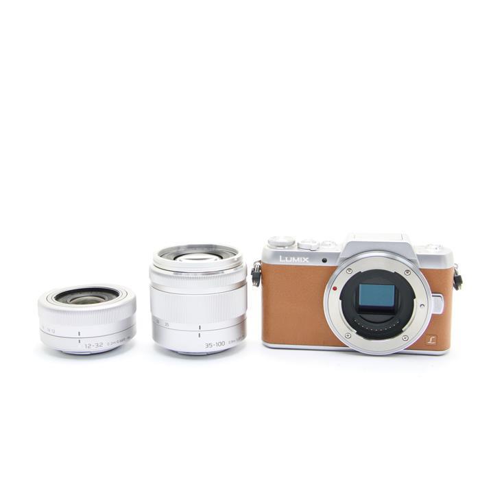 【あす楽】 【中古】 《難有品》 Panasonic LUMIX DMC-GF7W ダブルズームレンズキット ブラウン [ デジタルカメラ ]