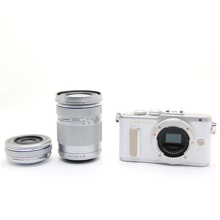 【あす楽】 【中古】 《美品》 OLYMPUS PEN E-PL8 EZダブルズームキット ホワイト [ デジタルカメラ ]