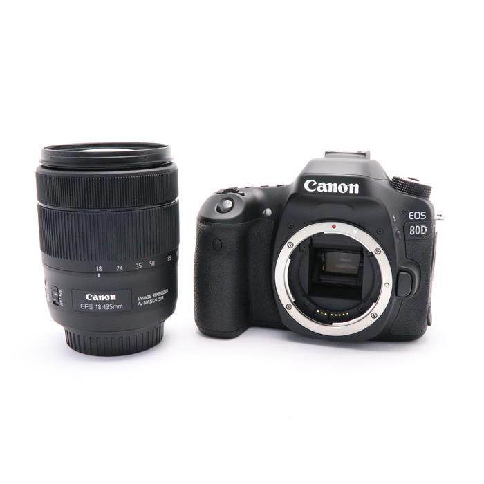 【あす楽】 【中古】 《美品》 Canon EOS 80D EF-S18-135 IS USM レンズキット [ デジタルカメラ ]