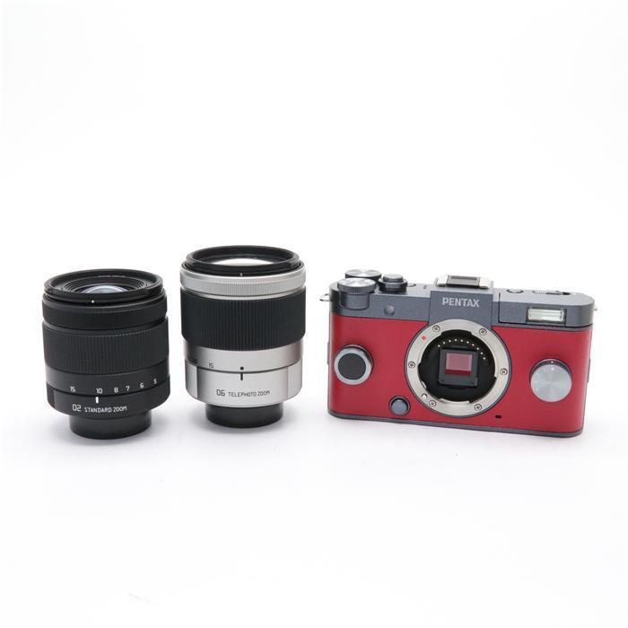 【あす楽】 【中古】 《美品》 PENTAX Q-S1 ダブルズームキット ガンメタル×カーマインレッド [ デジタルカメラ ]