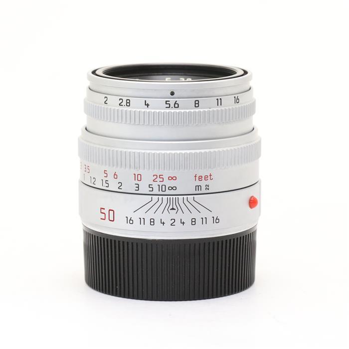 【あす楽】 【中古】 《良品》 Leica ズミクロン M50mm F2 レンズフード組込 シルバー 【オーバーホール済】 [ Lens | 交換レンズ ]