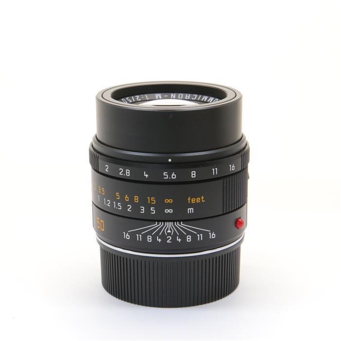 【あす楽】 【中古】 《良品》 Leica アポズミクロン M50mm F2.0 ASPH. ブラック 【ドイツ本社にてピント調整/絞り羽清掃/マウント交換済み】 [ Lens | 交換レンズ ]