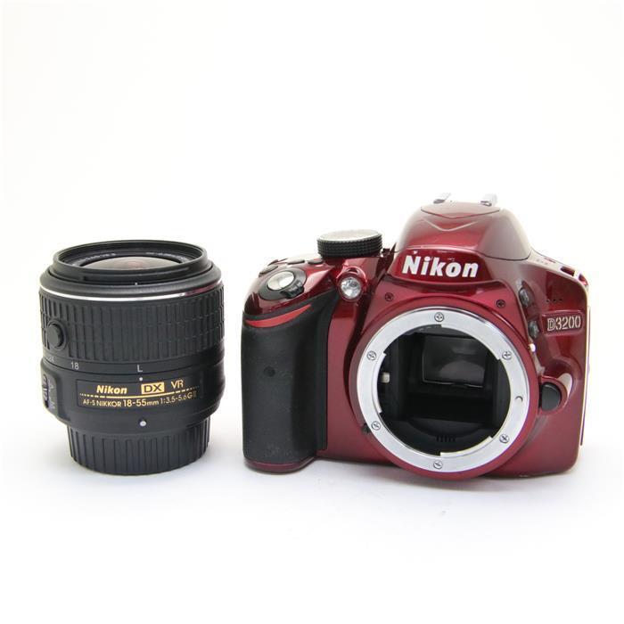 【あす楽】 【中古】 《並品》 Nikon D3200 + AF-S 18-55 VR II レッド レッド [ デジタルカメラ ]