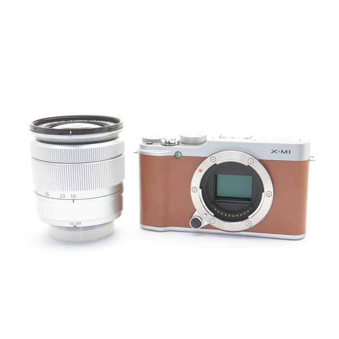 【あす楽】 【中古】 《並品》 FUJIFILM X-M1 レンズキット ブラウン [ デジタルカメラ ]