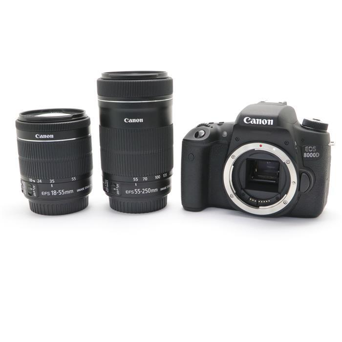 【あす楽】 【中古】 《美品》 Canon EOS 8000D ダブルズームキット [ デジタルカメラ ]