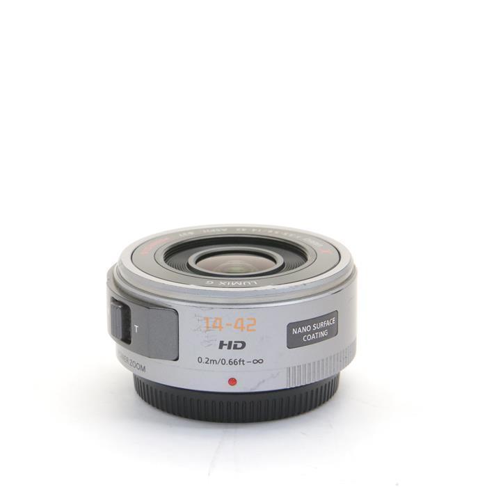 【あす楽】 【中古】 《並品》 Panasonic G X PZ 14-42mm F3.5-5.6 ASPH. POWER O.I.S. シルバー (マイクロフォーサーズ) [ Lens | 交換レンズ ]