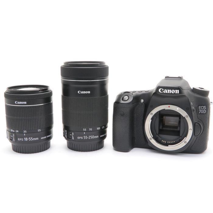 【あす楽】 【中古】 《並品》 Canon EOS 70D ダブルズームキット [ デジタルカメラ ]