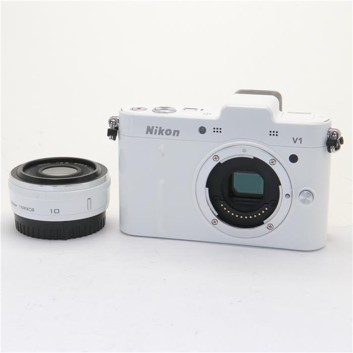 【あす楽】 【中古】 《良品》 Nikon Nikon 1 V1 薄型レンズキット ホワイト [ デジタルカメラ ]