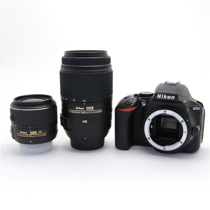 【代引き手数料無料!】 【あす楽】 【中古】 《美品》 Nikon D5500 ダブルズームキット ブラック [ デジタルカメラ ]
