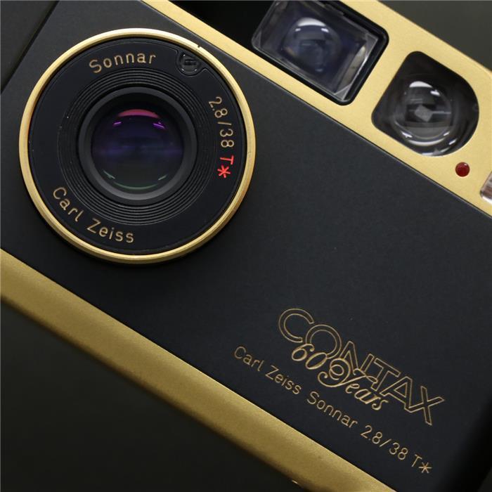【あす楽】 【中古】 《良品》 CONTAX T2 (60th) ゴールド 【日本国内限定2000台のゴールドモデルが入荷しました!】