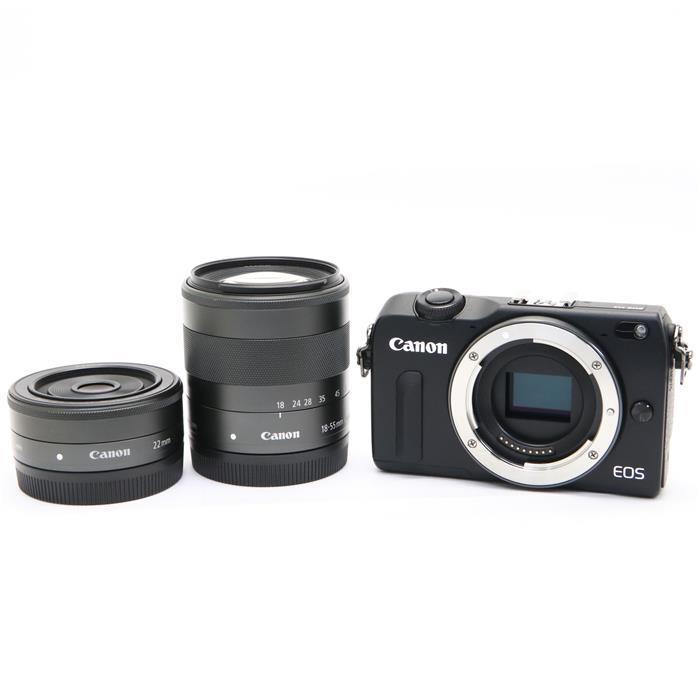 【あす楽】 【中古】 《美品》 Canon EOS M2 ダブルレンズキット ブラック [ デジタルカメラ ]