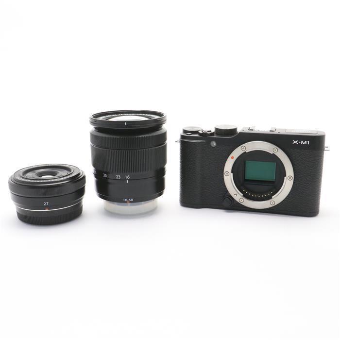 【あす楽】 【中古】 《良品》 FUJIFILM X-M1 ダブルレンズキット ブラック [ デジタルカメラ ]