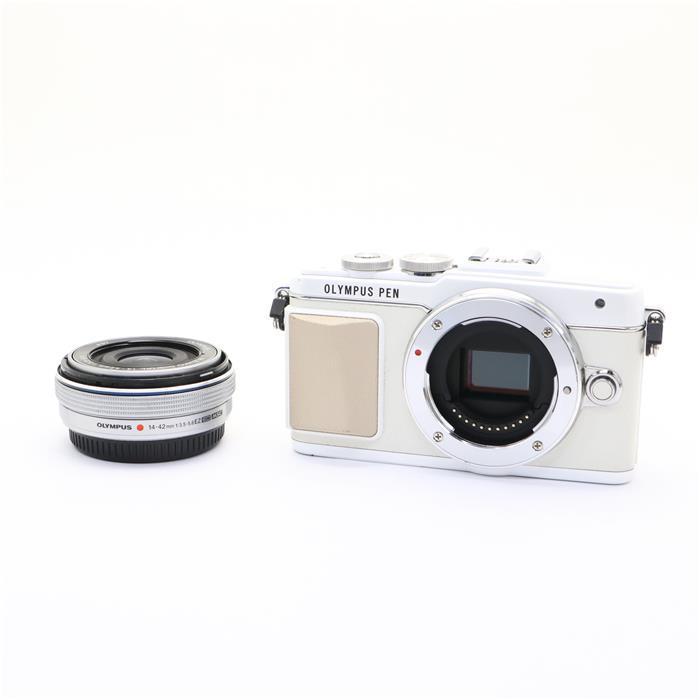 【あす楽】 【中古】 《難有品》 OLYMPUS PEN Lite E-PL7 14-42mm EZレンズキット ホワイト ホワイト [ デジタルカメラ ]