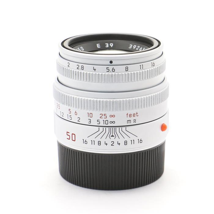 【あす楽】 【中古】 《美品》 Leica ズミクロン M50mm F2 レンズフード組込 シルバー 【レンズ内クリーニング/各部点検済】 [ Lens   交換レンズ ]