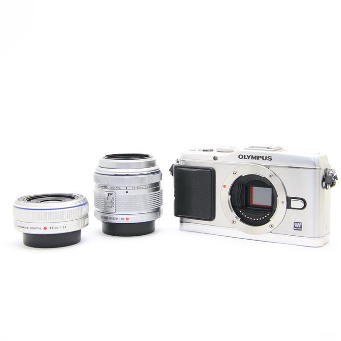 【あす楽】 【中古】 《美品》 OLYMPUS PEN E-P3ツインレンズキット シルバー [ デジタルカメラ ]