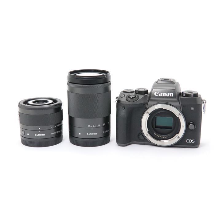 【あす楽】 【中古】 《美品》 Canon EOS M5 クリエイティブマクロダブルレンズキット [ デジタルカメラ ]