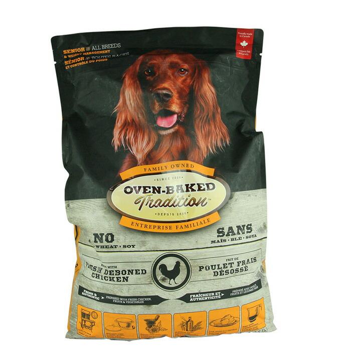 老犬&肥満犬用 総合栄養食 犬 ドッグフード オーブンベークド トラディション シニア&ウエイトマネージメント 11.34kg 大粒