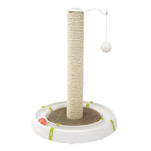 イタリアferplast社製 MAGIC TOWER マジックタワー 猫 ネコ 爪とぎ ダンボール おもちゃ ボール 猫じゃらし