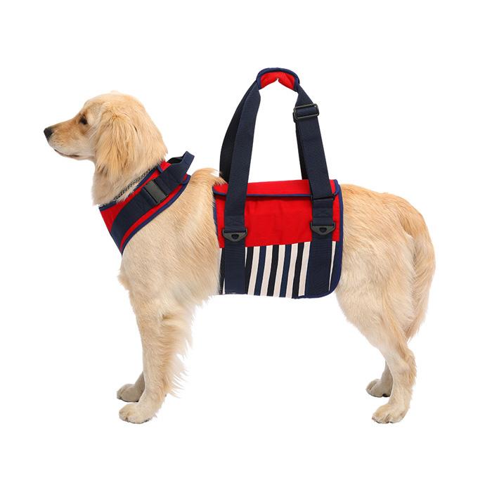 歩行補助ハーネスLaLaWalK 大型犬用 ナチュラルマリン LL