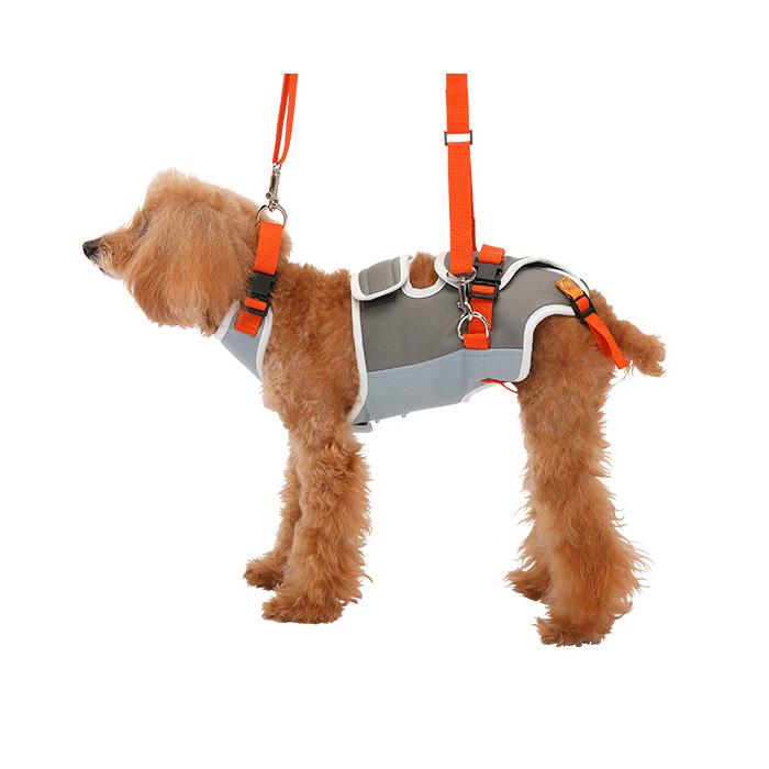 歩行補助ハーネスLaLaWalk 小型犬・ダックス用 グレーXオレンジ S