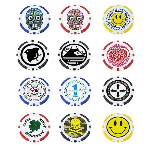 超特価 メール便送料無料 ポーカーチップマーカー X-768 アイテム勢ぞろい ゴルフ用品 ゴルフマーカー かわいい キャラクター ボールマーカー カジノチップマーカー レディース