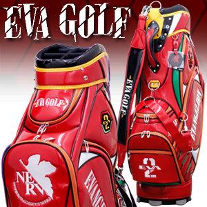 【あす楽対応】 エヴァンゲリオン ゴルフ キャディバッグ 弐号機 2号機 限定品 ゴルフ用品 ゴルフバッグ