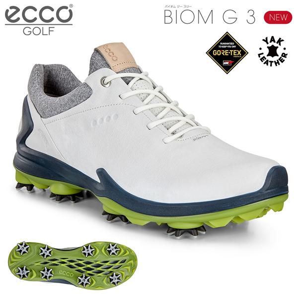 【あす楽対応】 ecco エコー ゴルフシューズ BIOM G 3 バイオム ジー スリー SHADOW WHITE / DARK PETROL 131804-51402 日本正規品