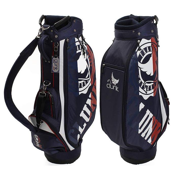 【即納】 CLUNK クランク ゴルフ キャディバッグ ネイビー 9型 CL51NC31 ゴルフ用品 メンズ レディース 軽量