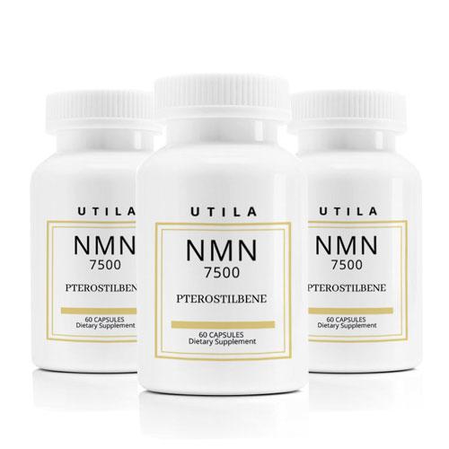 3個セット UTILA NMN7500 NMN+メチル化レスベラトロール(プテロスチルベン)サプリメント【60カプセル】